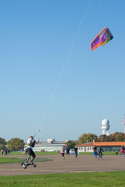 Kite skating, Tempelhof