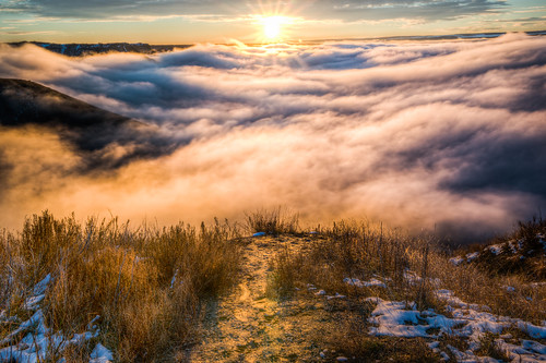 sunset sea sky sun mist color nature fog clouds sunrise outdoors dof sony sharp trail 28 hdr 1635 a99 viivd