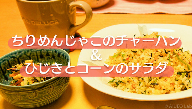 shirasu_fried_rice_hijiki_salad