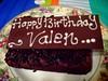 Kue ulang tahun Valen