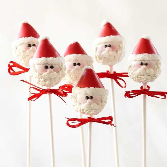 Santa cake pops