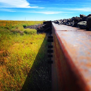 At the base of the railroad track bed. #vintageairstream #airstream #airstreamdc2cali