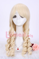 60cm long Classic beige wave Anime cosplay wig ZY06-B