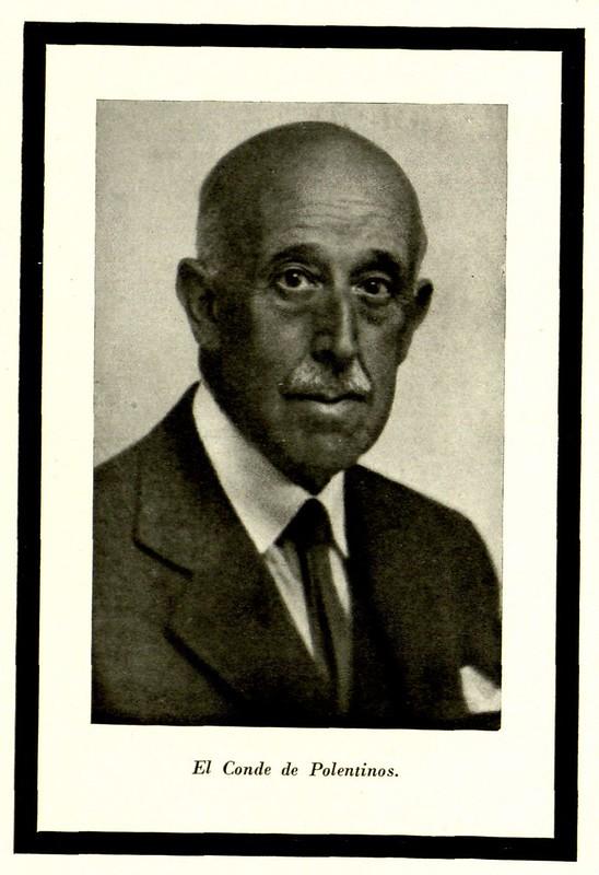 Aurelio de Colmenares y Orgaz, Conde de Polentinos. Fotografía publicada en 1947 en la revista Arte Español con motivo de su fallecimiento.