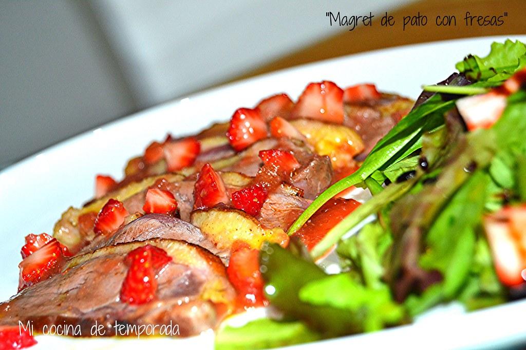 Magret de pato con salsa de fresas 018