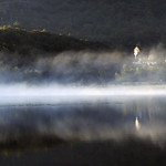 Sunrise&Mist on Padarn lake.