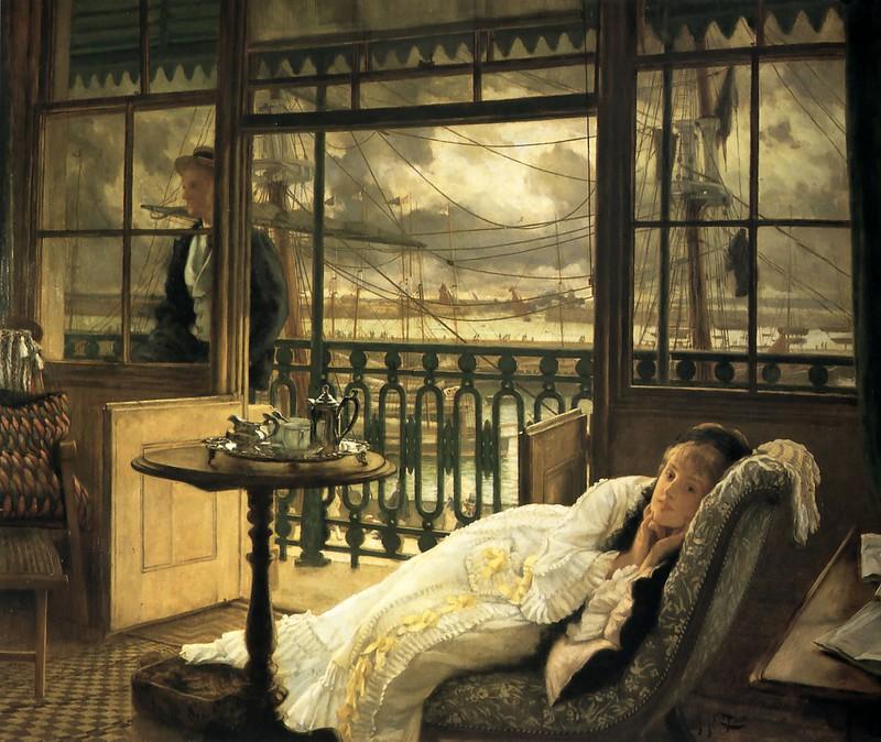 James Tissot - A Passing Storm (c.1876)