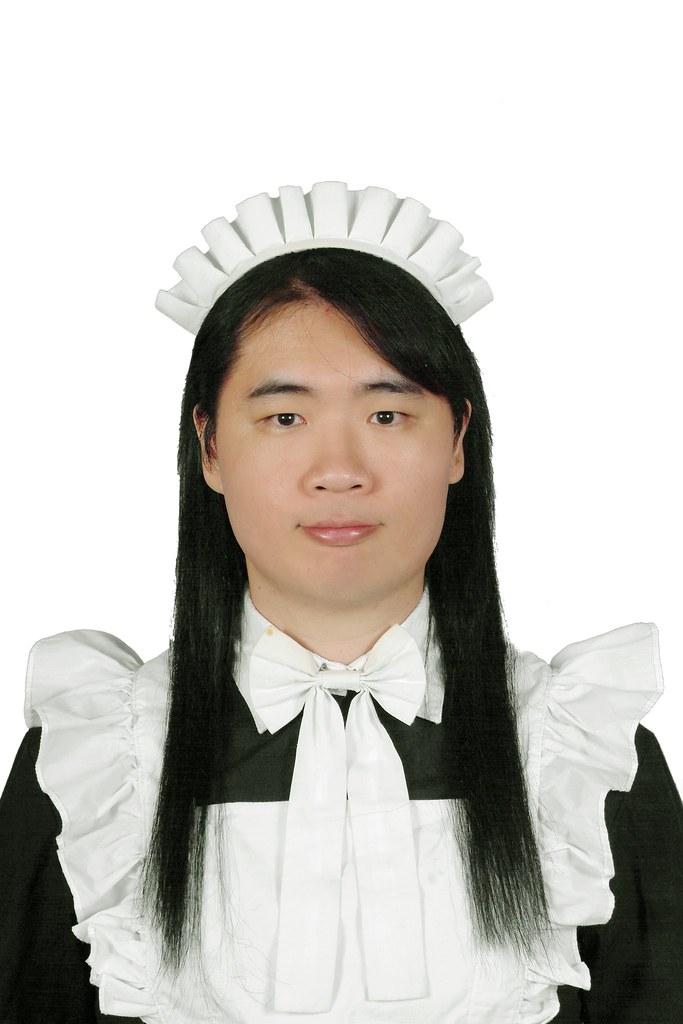 chris in maid 新女僕服大頭照