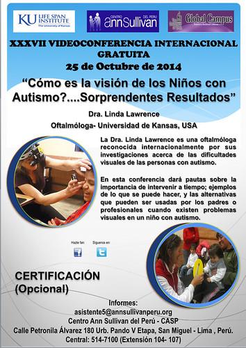 """XXXVII Videoconferencia Internacional Gratuita """"Cómo es la visión de los niños con autismo?.... Sorprendentes resultados"""""""