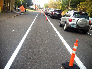 new bike lane on Williams Ave