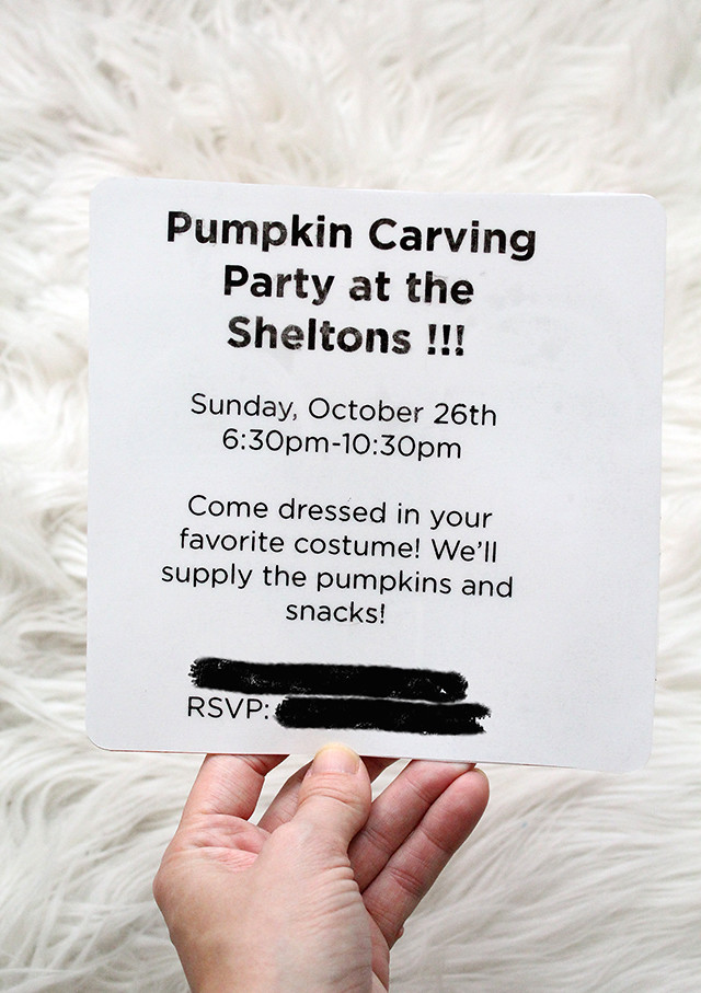 Peek-a-boo Party Invites