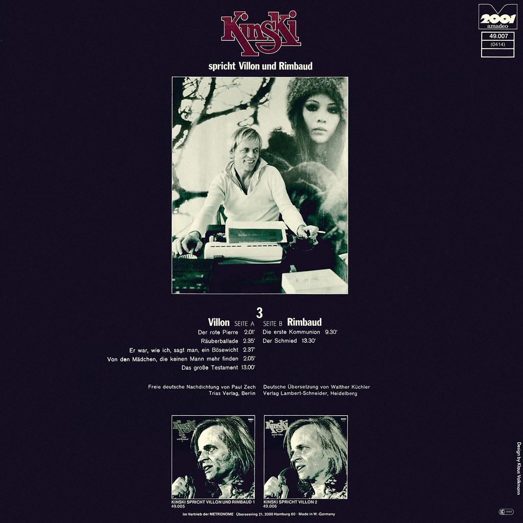 Klaus Kinski - Kinski Spricht Villon und Rimbaud 3