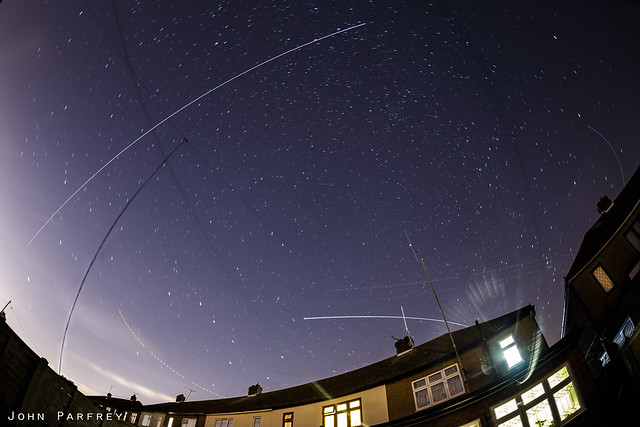 ISS passing over the house