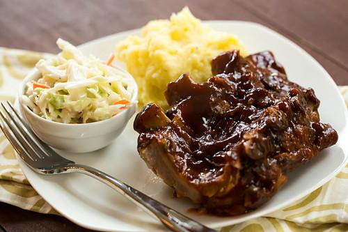 BBQ ribs in the crock-pot