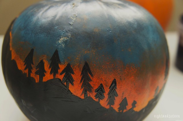 halloween pumpkin decorating diy eightandsixteen