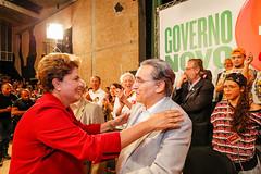 Ato com artistas por Dilma