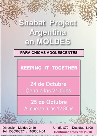 the shabbot project en moldes