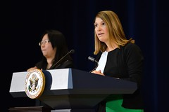 Deputy Secretary of State for Management and Resources Heather Higginbottom delivers remarks at the U.S. Department of State's Work-Life Balance Month event in Washington, D.C., on October 22, 2014. [State Department photo/ Public Domain]