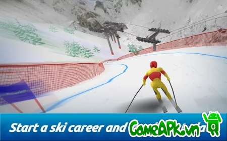 Top Ski Racing 2014 v1.02 hack full tiền cho Android