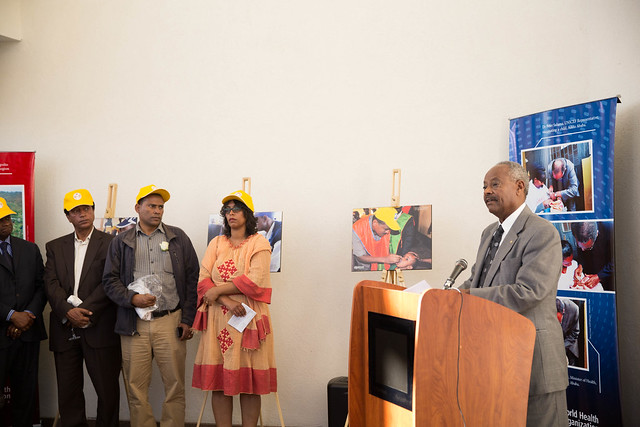 PDG Tadesse Alemu speaks at the World Polio Day