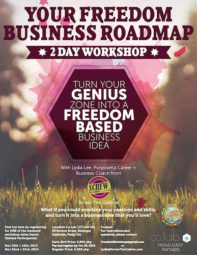 Your Freedom Business Roadmap workshop poster