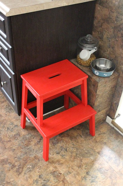 red-stool-ikea-bekvam & Repainting the Kitchen Stool with Behr Marquee Paint in just ONE ... islam-shia.org