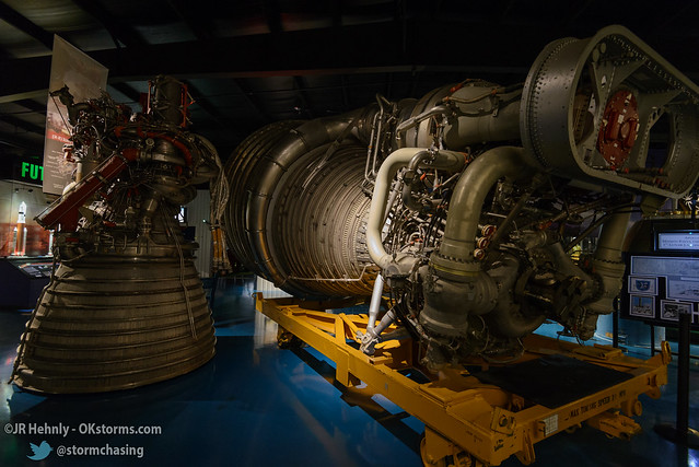 Sun, 10/26/2014 - 15:15 - The pumps, hoses, and everything else that makes the J-2 (left) and the F-1 (right) rocket engines go. - Stafford Air and Space Museum - October 26, 2014 3:15:38 PM - Weatherford, Oklahoma (35.5447,-98.6700)