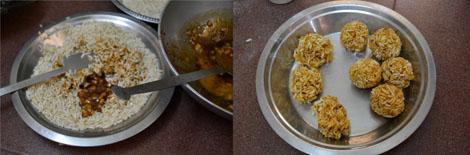 how to make pori urundai