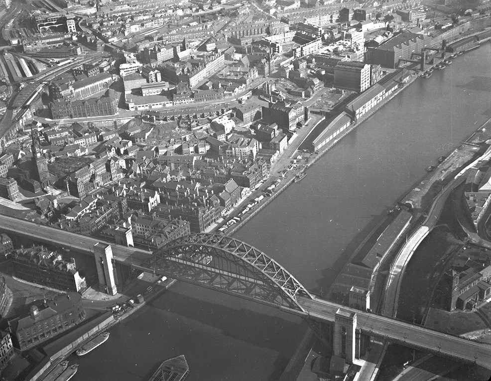 Newcastle upon Tyne Quayside, 1950