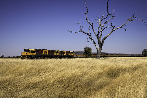 train landscape diesel australia queensland locomotive passengertrain queenslandrail thespiritoftheoutback infinitexposure barcaldinecountry