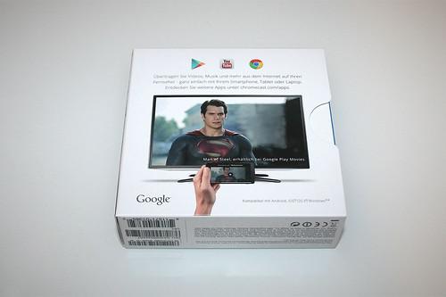 02 - Google Chromecast - Packung hinten
