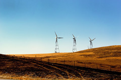 prairie, machine, horizon, windmill, plain, hill, wind, wind farm, landscape, rural area, wind turbine,