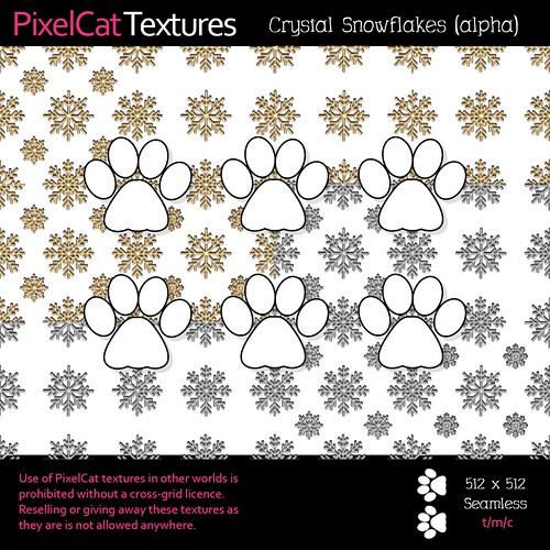 PixelCat Textures - Crystal Snowflakes (alpha)