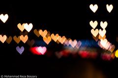 Heart Bokeh in the Highway