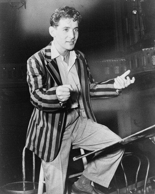Leonard Bernstein, conductor and musical director of New York City Symphony, 1945, photo by Fred Palumbo, World Telegram staff photographer, Library of Congress. New York World-Telegram & Sun Collection
