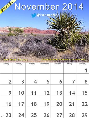 November 2014 Calendar: Red Rock Canyon National Conservation Area @blmnv @TravelNevada @RRCIAOfficial