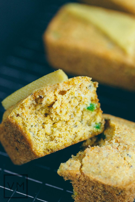 Vegan Jalapeño Cornbread Loaves