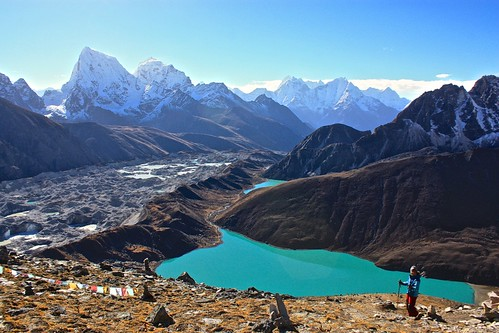 decending back to Gokyo