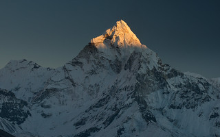 Sunset on Ama Dablam (6,856 metres or 22,493 ft)