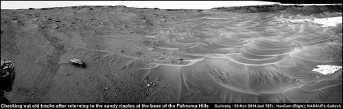 Curiosity Rover :  Post-drive NavCam Mosaic