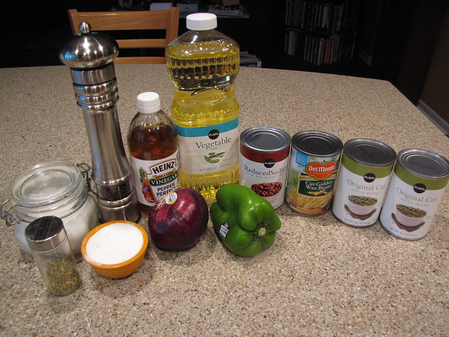 Three Bean Salad Ingredients