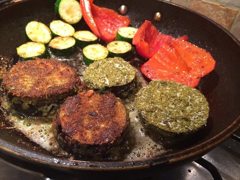 Herb crusted rack of lamb : Turn the vegetables half way