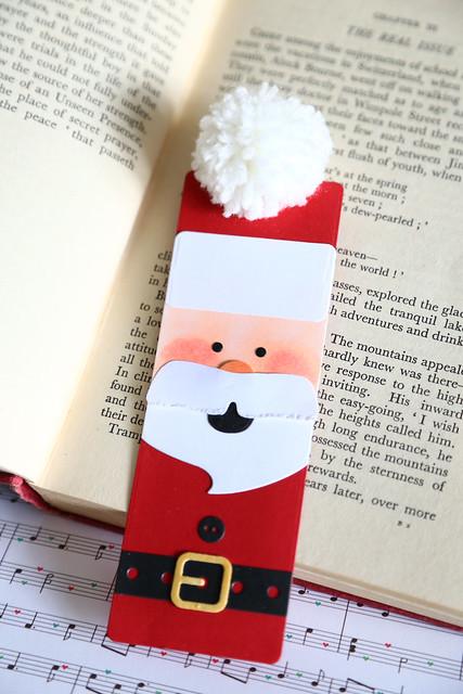 santa bookmarks {Waffle Flower guest designing}