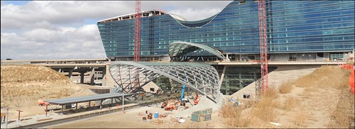 Photo of Construction on the station platform at the Denver Airport Station