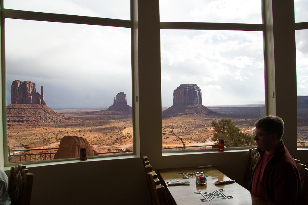 View from restaurant at Monument Valley The View Hotel