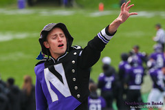 Growl For Me, 'Cats! ::  	   The Northwestern University 'Wildcat' Marching Band performs at Ryan Field as Northwestern Football hosts Wisconsin on October 4, 2014.  Photo by Daniel M. Reck '08 MSEd.