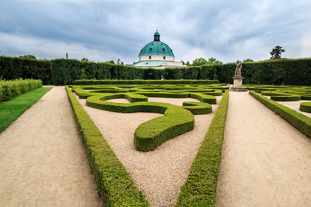 The Unesco gardens at Kroměříž, Czech republic