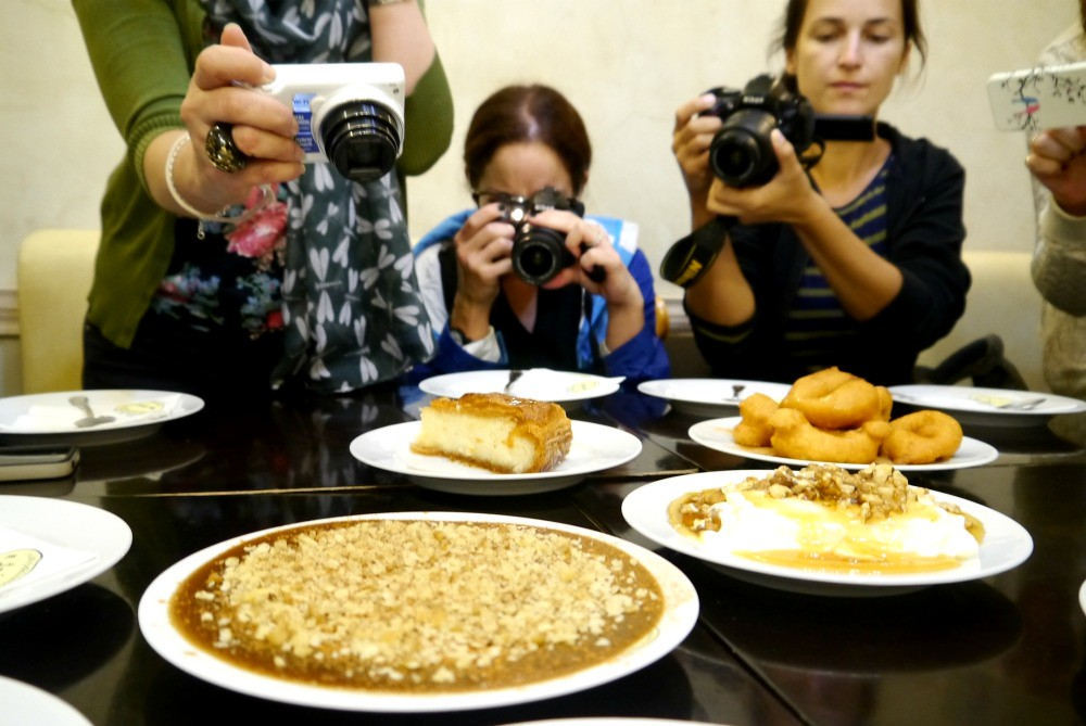 Bloggers on the Big Olive food tour