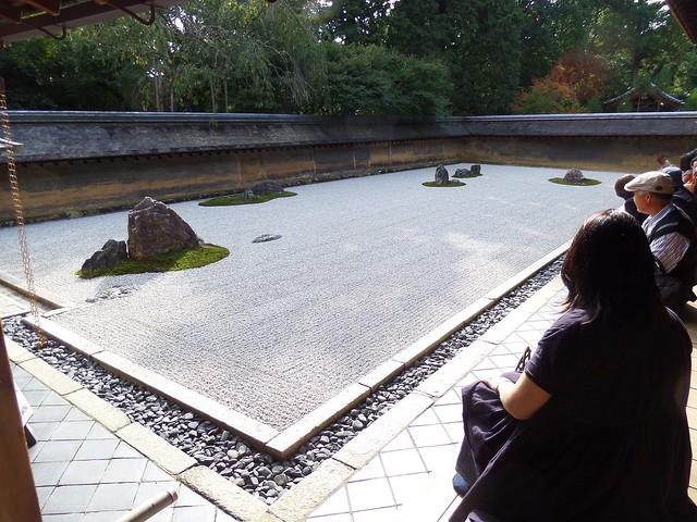 Ryoanji Temple Stone Garden with Noriko