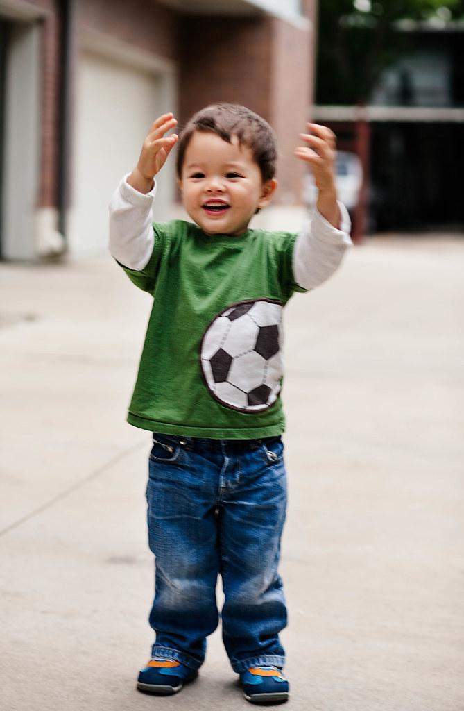 cute & little blog | toddler fashion | carters soccer ball graphic shirt, gap jeans, tsukihoshi neko shoes